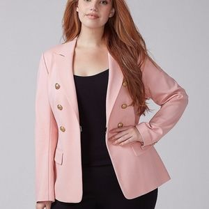 NEW Lane bryant the bryant blazer pink Double-Brea